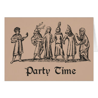 Pagan Folk Party Time greeting card