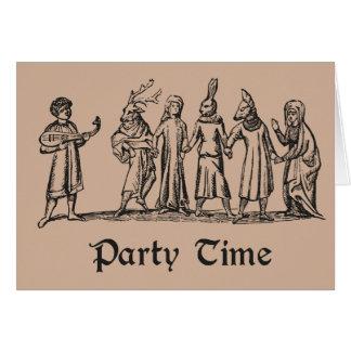 Pagan Folk Party Time greeting card