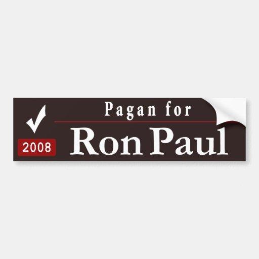 Pagan for Ron Paul_black Bumper Sticker