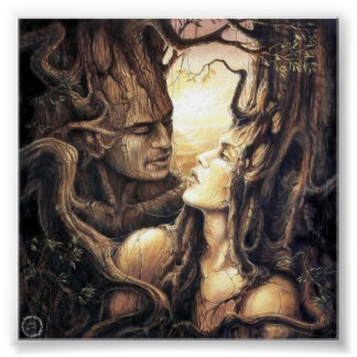Pagan God And Goddess Of the Forest Poster