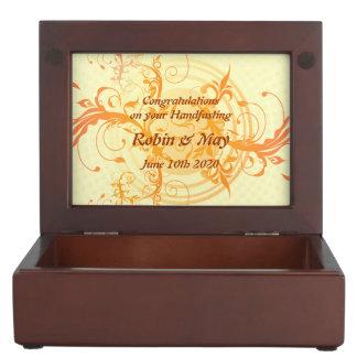Pagan Handfasting Floral Sun Keepsake Gift Memory Box