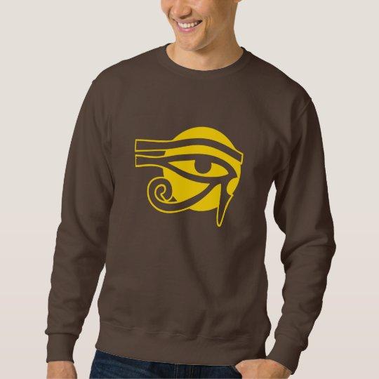 Pagan Horus on Sun Symbol Sweatshirt