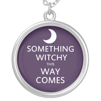 Pagan Humor Silver Plated Necklace