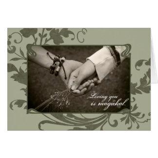 Pagan Love Greeting Card