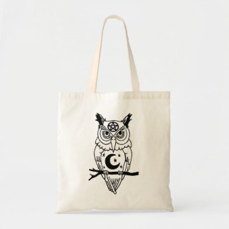 Pagan Owl with Pentacle and Moon Tote Bag