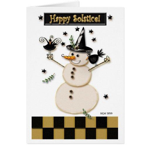 Pagan Prim Snowman & Laughing Crows Cards