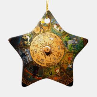 PAGAN SEASONS CERAMIC STAR DECORATION