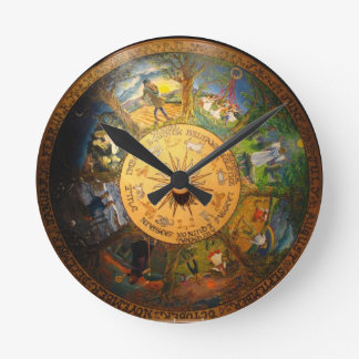 PAGAN SEASONS WALL CLOCK