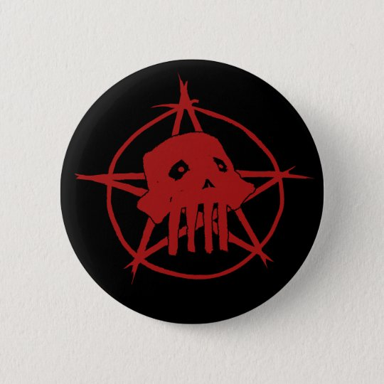 Pagan Skull Button
