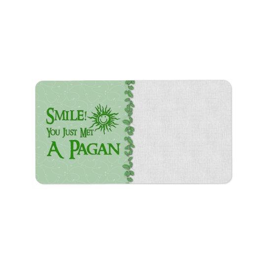 Pagan Smile Address Label