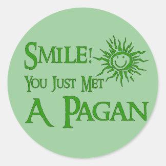 Pagan Smile Classic Round Sticker