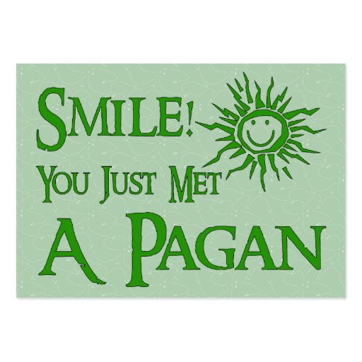 Pagan Smile Pack Of Chubby Business Cards