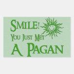 Pagan Smile Rectangular Stickers