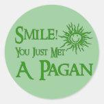 Pagan Smile Round Sticker