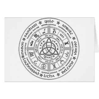 Pagan wheel of the Year Greeting Card