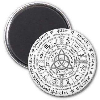 Pagan wheel of the Year 6 Cm Round Magnet