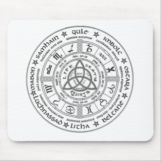 Pagan wheel of the Year Mousepads