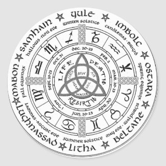 Pagan wheel of the Year Round Sticker