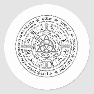 Pagan wheel of the Year Stickers