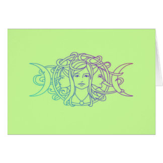 Pagan Wiccan Triple Moon Goddess Card