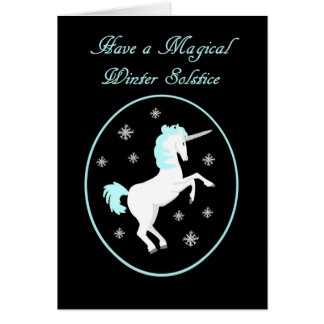 Pagan Winter Solstice Unicorn Card