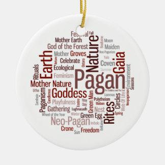 Pagan Words Christmas Ornament