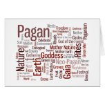 Pagan Words Note Card
