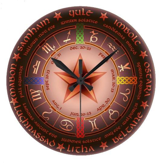 Pagan Calendar.Pagan Year Calendar Large Clock