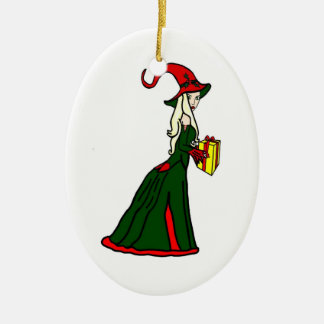 Pagan Yule Witch Christmas Ornament