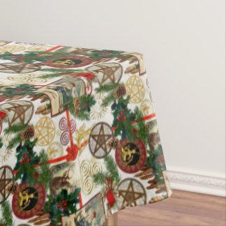 Pagan Yuletide & Vintage Victorian Illustrations Tablecloth