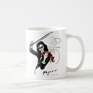 Paganini playing a red violin mug