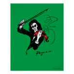 "Paganini with violin poster 11""x14"""