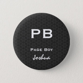 Page Boy Black White Wedding V11 6 Cm Round Badge