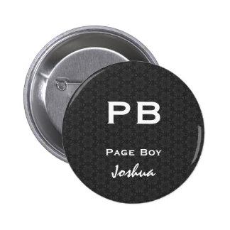 Page Boy Black White Wedding V11 6 Cm Round Badge
