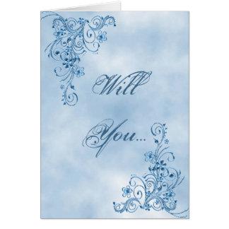 Page Boy Greeting Card: Sky Blue Elegance Greeting Card