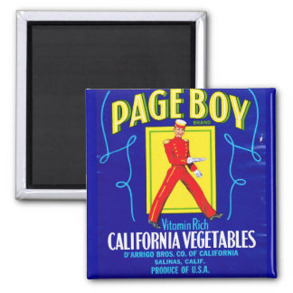 Page Boy Label Magnet