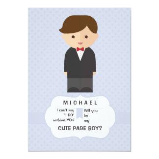 Page Boy Request Card 13 Cm X 18 Cm Invitation Card
