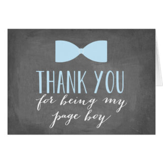 Page Boy Thank You | Groomsman Card
