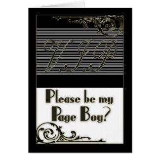 Page Boy V.I.P. Wedding Party Invitation Card