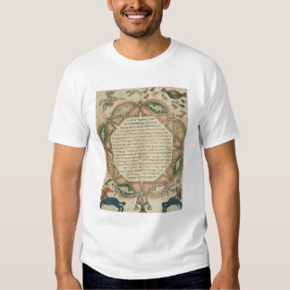 Page from a Hebrew Bible depicting Tshirts