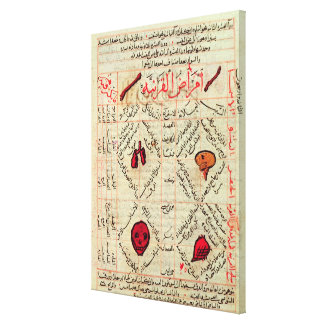 Page from the 'Canon of Medicine' by Avicenna Canvas Print