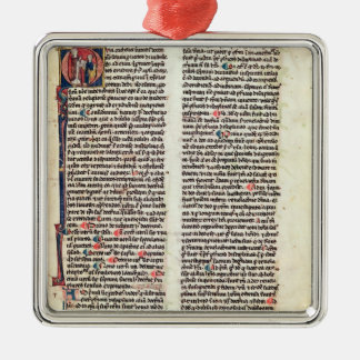 Page from the 'Somme de Theologie' Christmas Ornament