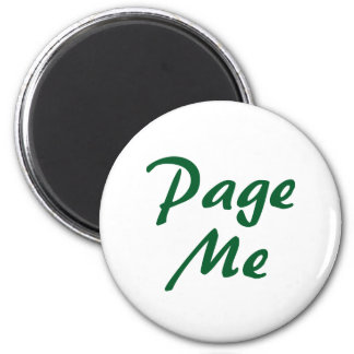 Page Me! Beep Me! 6 Cm Round Magnet