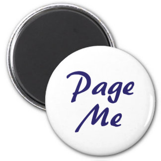 Page Me, Beep Me! 6 Cm Round Magnet
