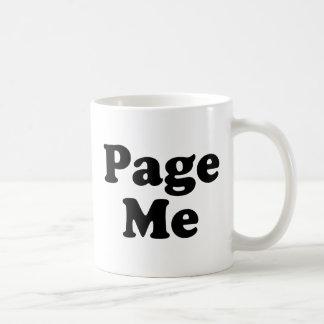 Page Me, Beep Me! Coffee Mugs