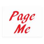 Page me! Beep me! Post Card