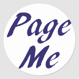 Page Me, Beep Me! Round Stickers