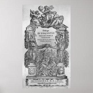 page of 'Della Musica Antica et della Moderna' Poster