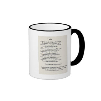 Page of Greek Epigrams by Angelo Poliziano, 1498 Ringer Coffee Mug