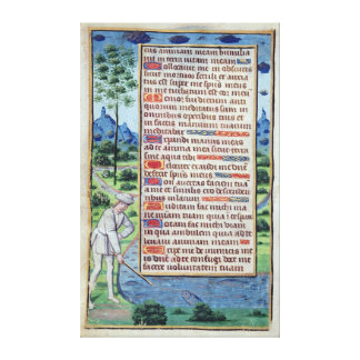 Page of Latin text with border Canvas Print